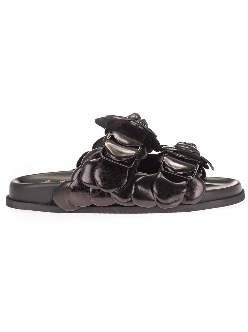 Valentino VALENTINO GARAVANI WOMEN'S BLACK LEATHER SANDALS