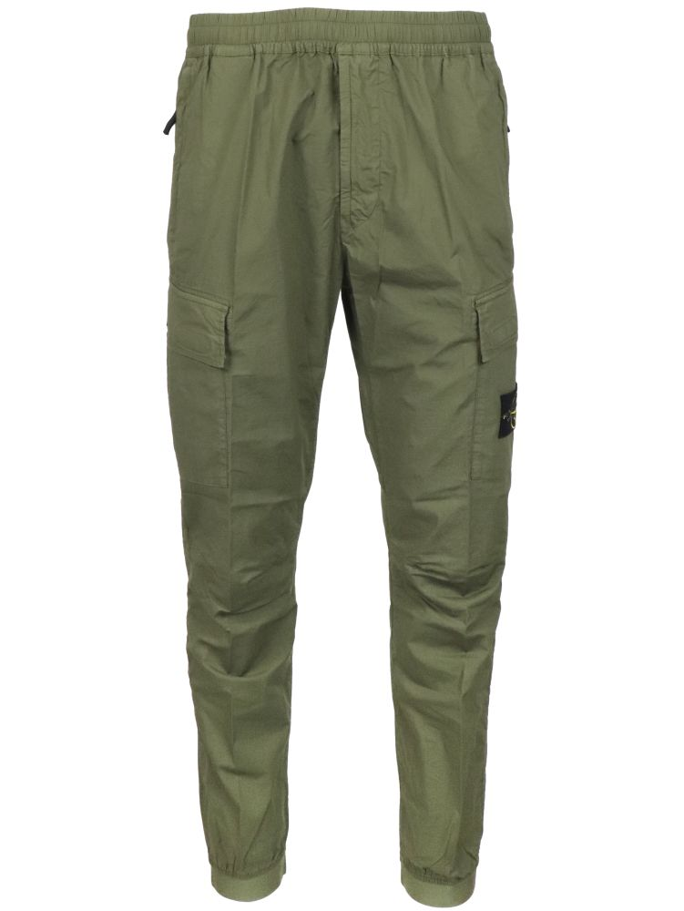 Stone Island Pants STONE ISLAND MEN'S GREEN OTHER MATERIALS PANTS