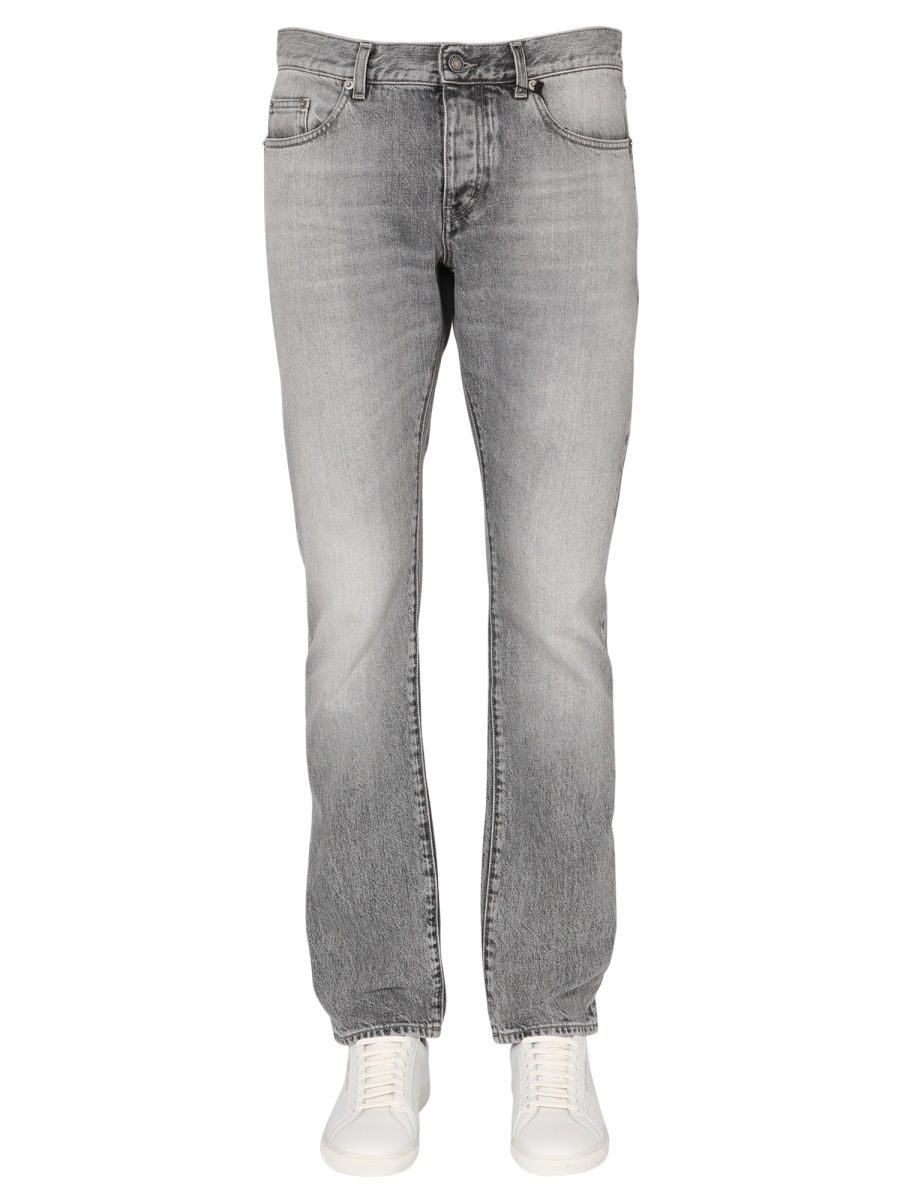 Saint Laurent SAINT LAURENT MEN'S GREY OTHER MATERIALS JEANS