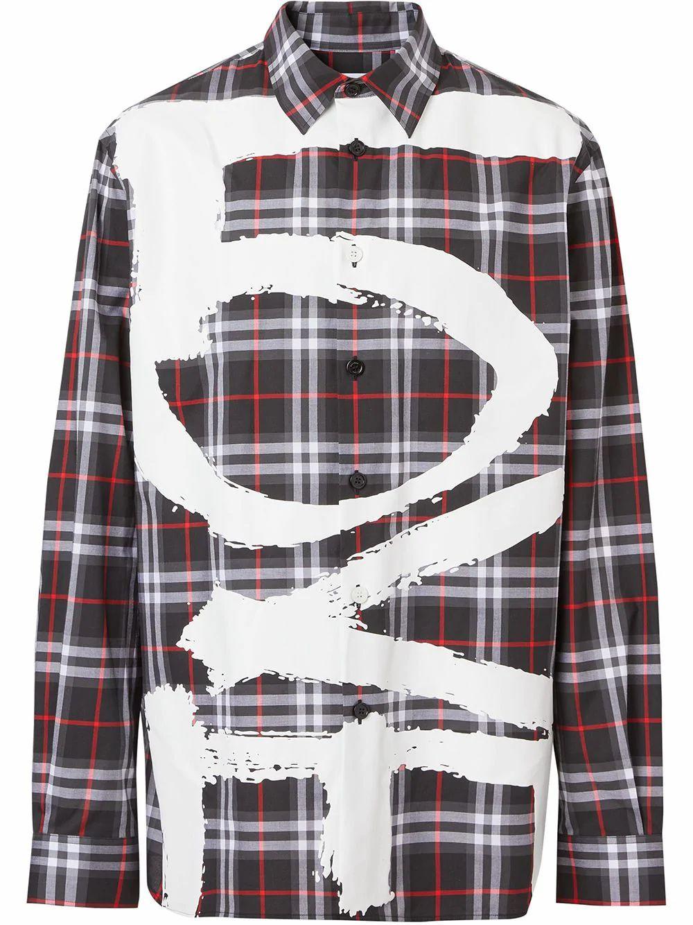 Burberry Shirts BURBERRY MEN'S BLACK COTTON SHIRT