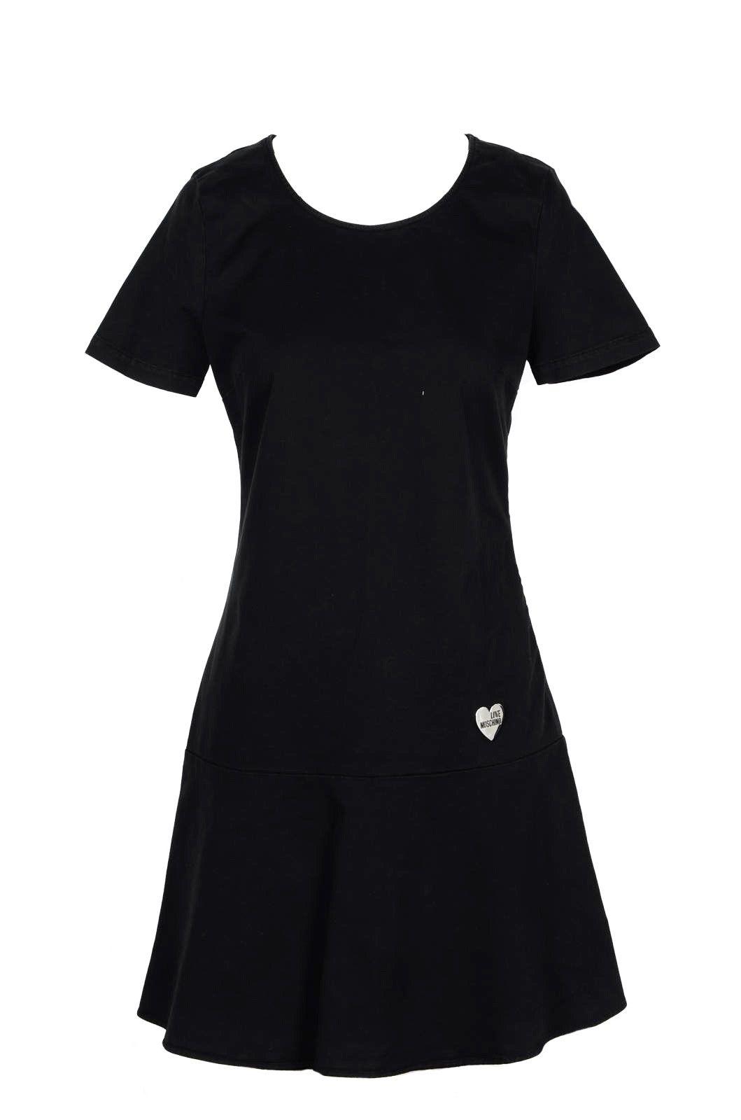 Love Moschino LOVE MOSCHINO WOMEN'S BLACK COTTON DRESS