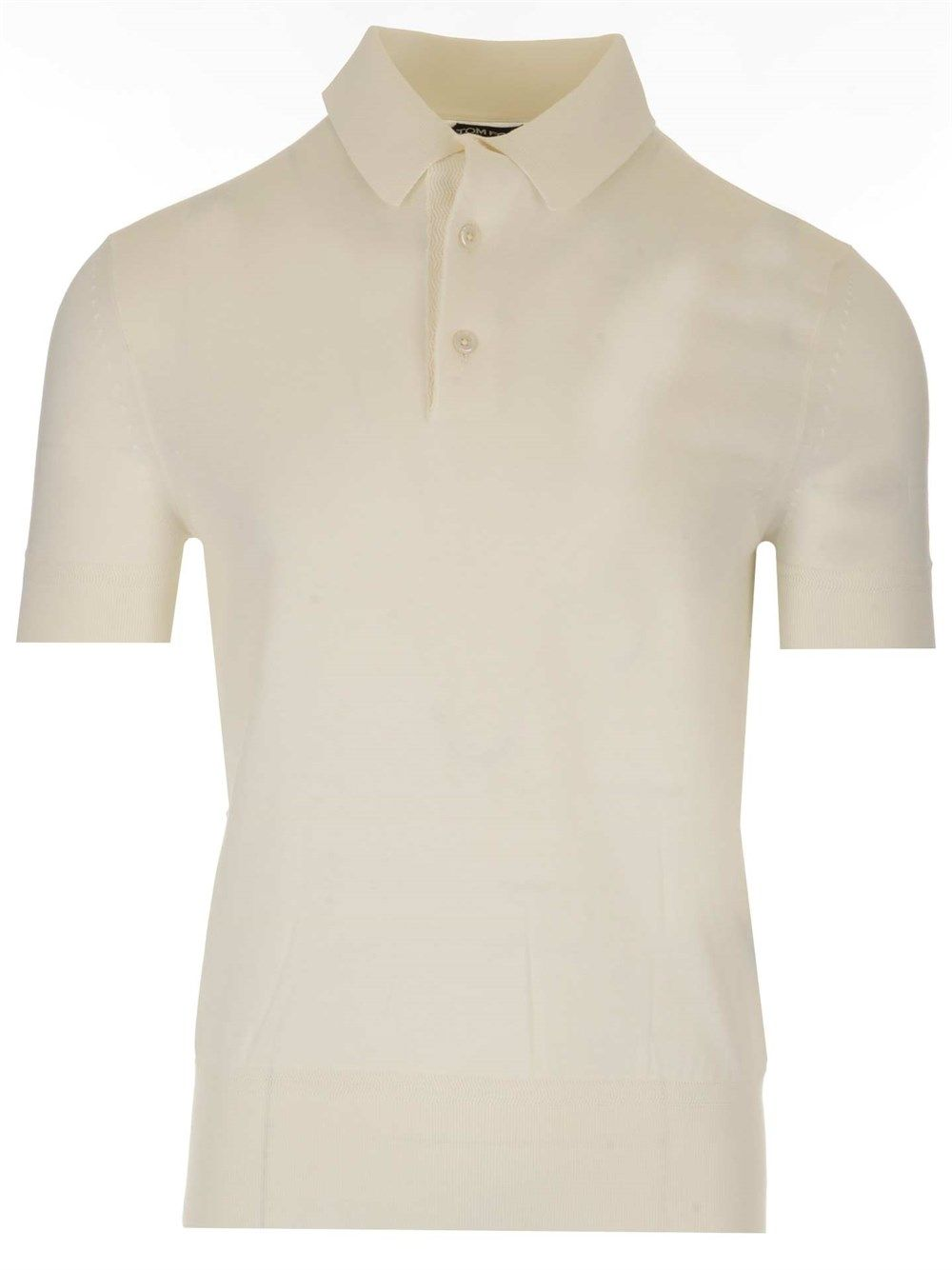 Tom Ford Cottons TOM FORD MEN'S WHITE OTHER MATERIALS POLO SHIRT