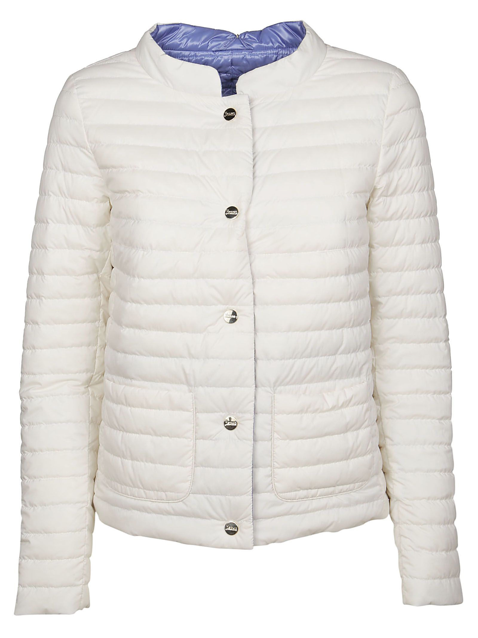 Herno Women's White Polyamide Down Jacket