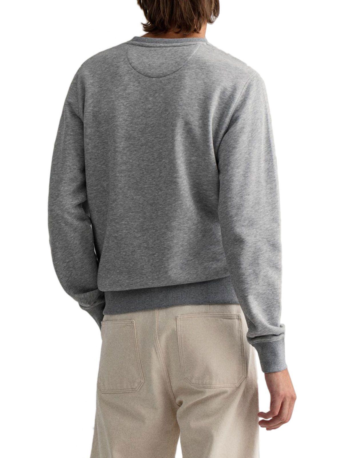 GANT Sweatshirts GANT MEN'S GREY COTTON SWEATSHIRT