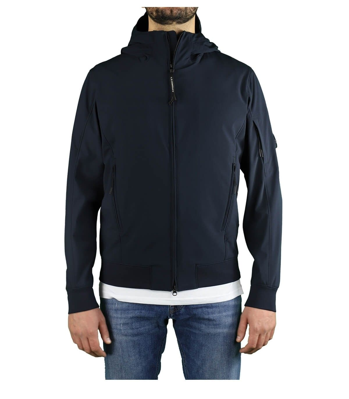 C.p. Company CP COMPANY MEN'S BLUE POLYAMIDE OUTERWEAR JACKET