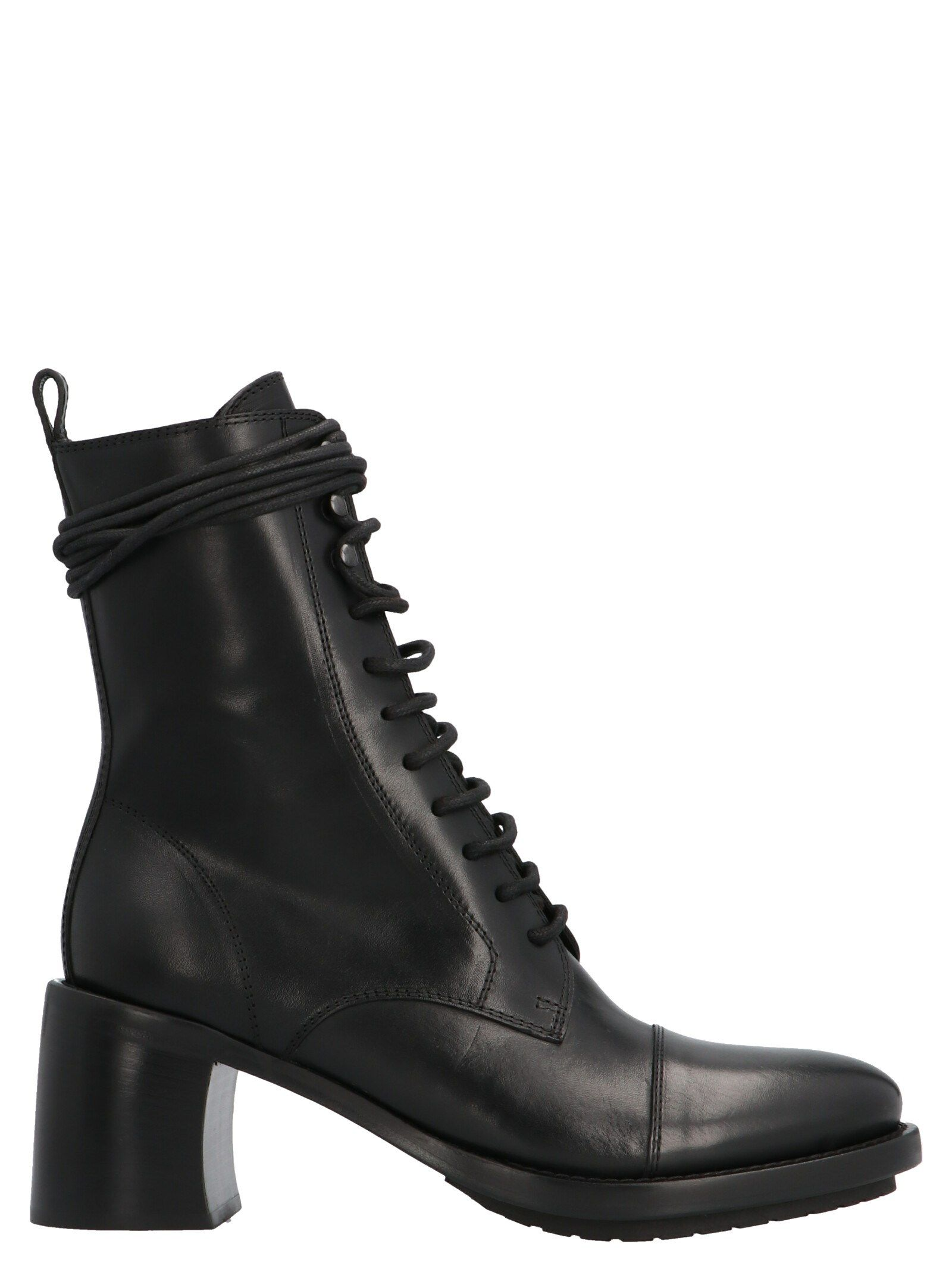 Ann Demeulemeester Leathers ANN DEMEULEMEESTER WOMEN'S BLACK ANKLE BOOTS