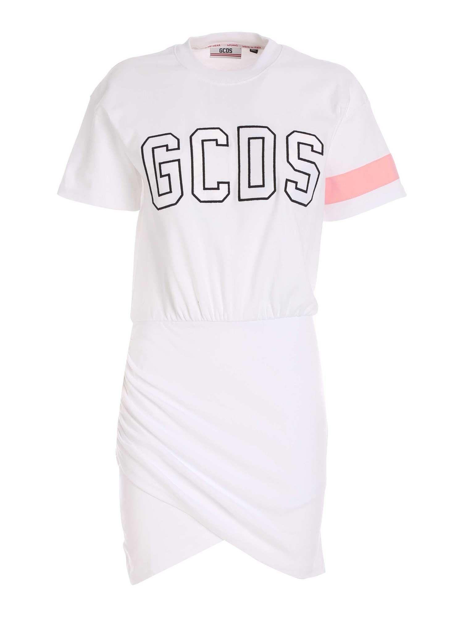 Gcds Cottons GCDS WOMEN'S WHITE COTTON DRESS
