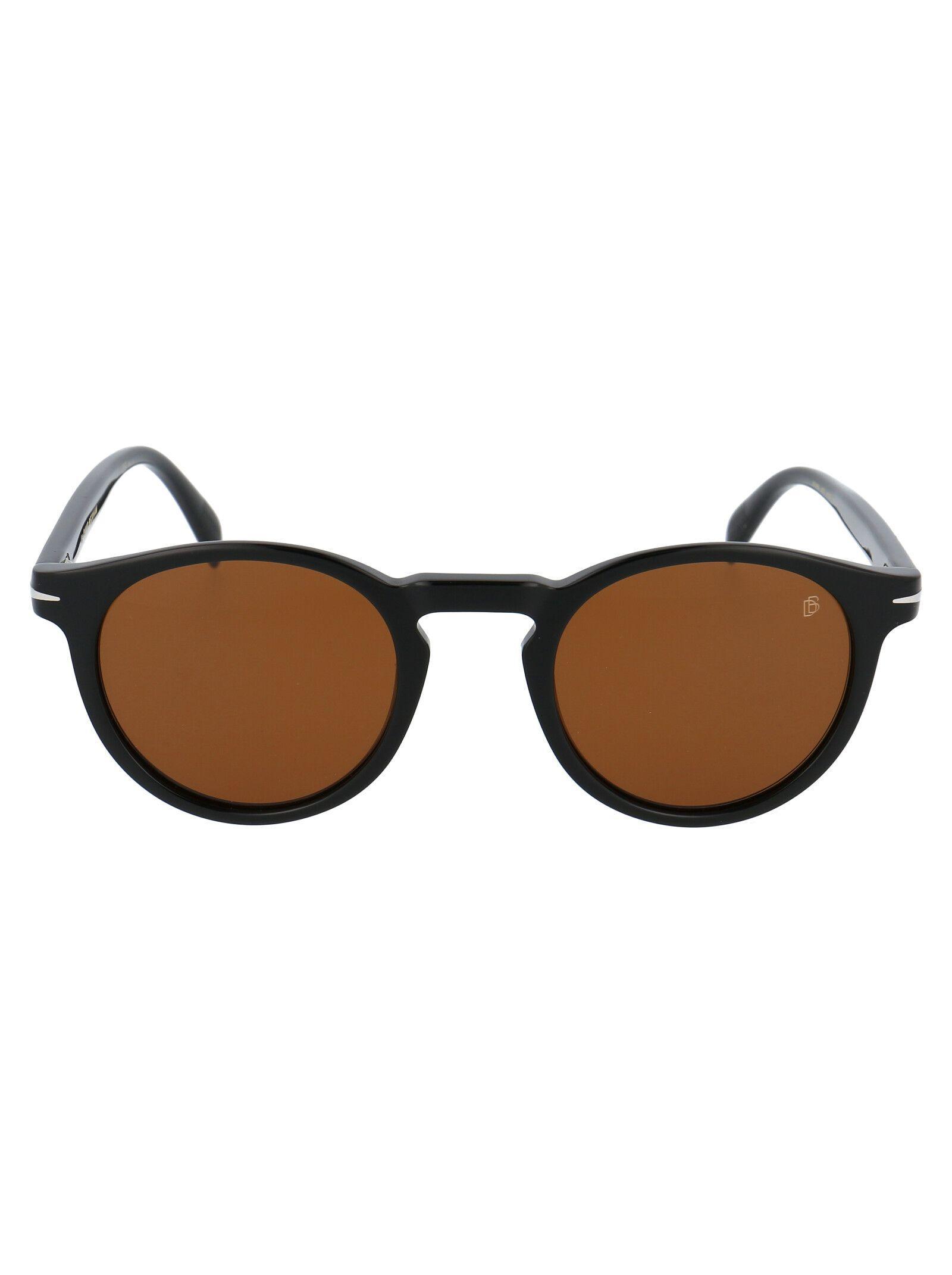 David Beckham Men's Black Acetate Sunglasses