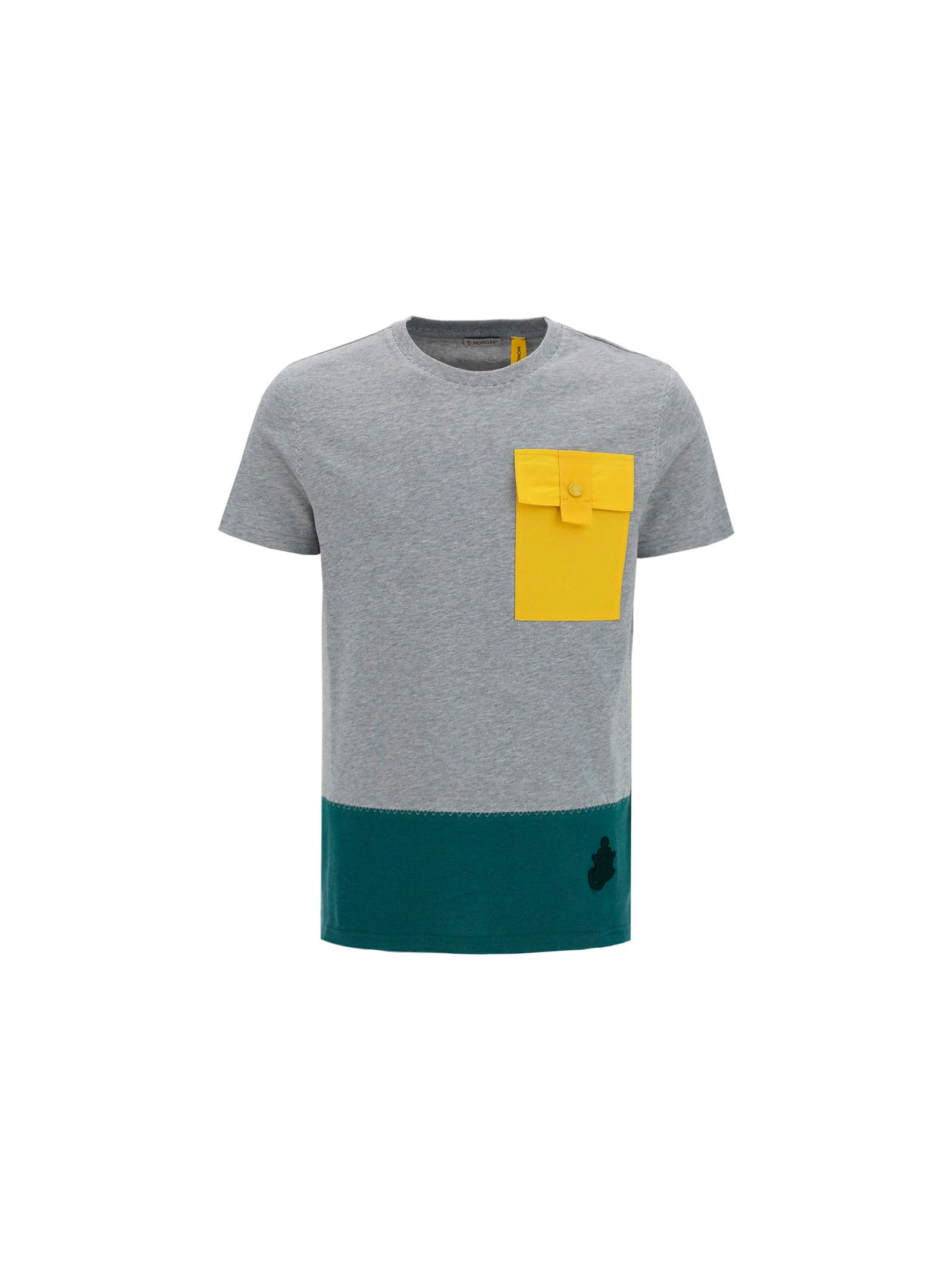Moncler MONCLER MEN'S GREY OTHER MATERIALS T-SHIRT
