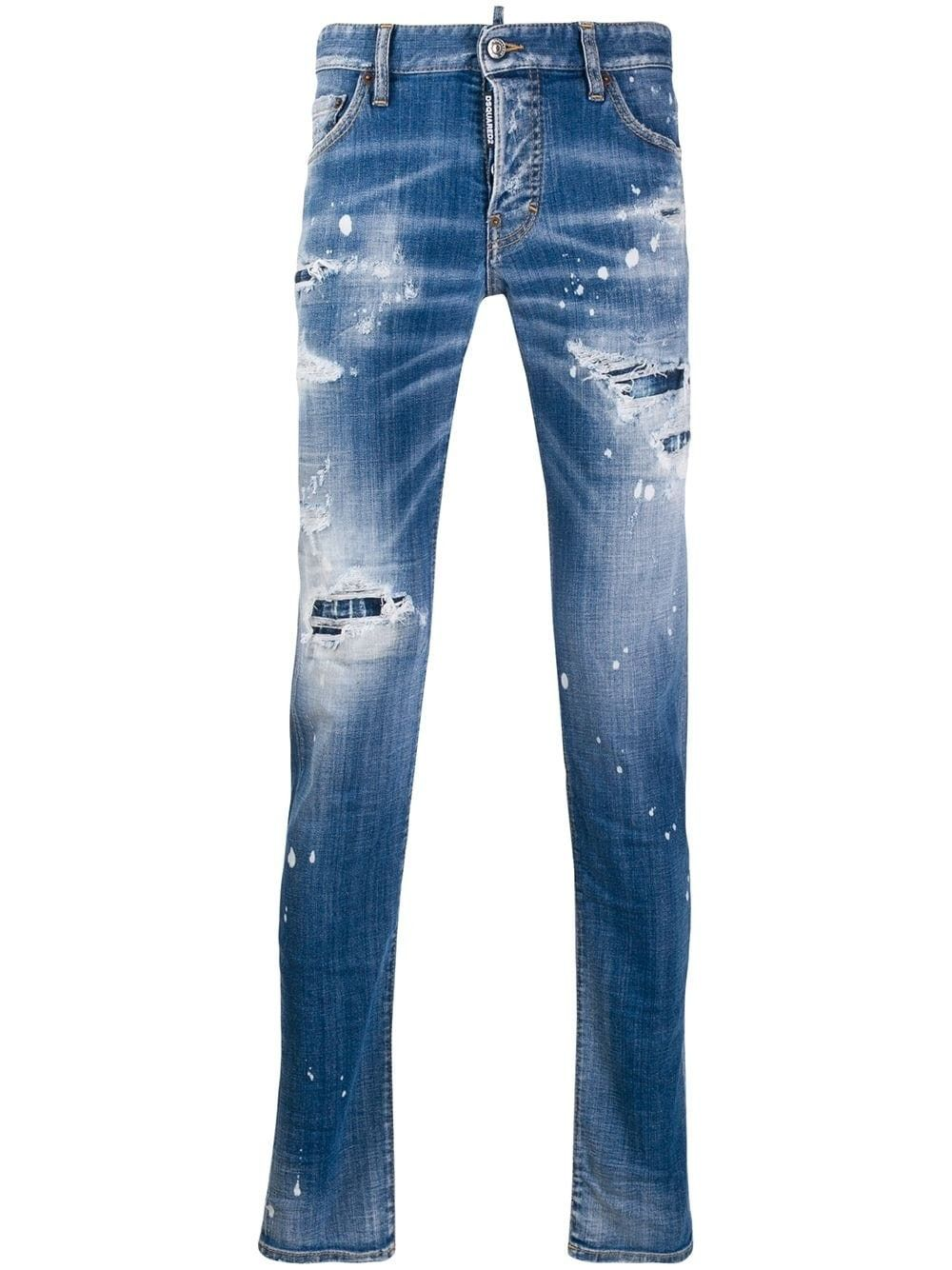 Dsquared2 Jeans BLUE COTTON JEANS