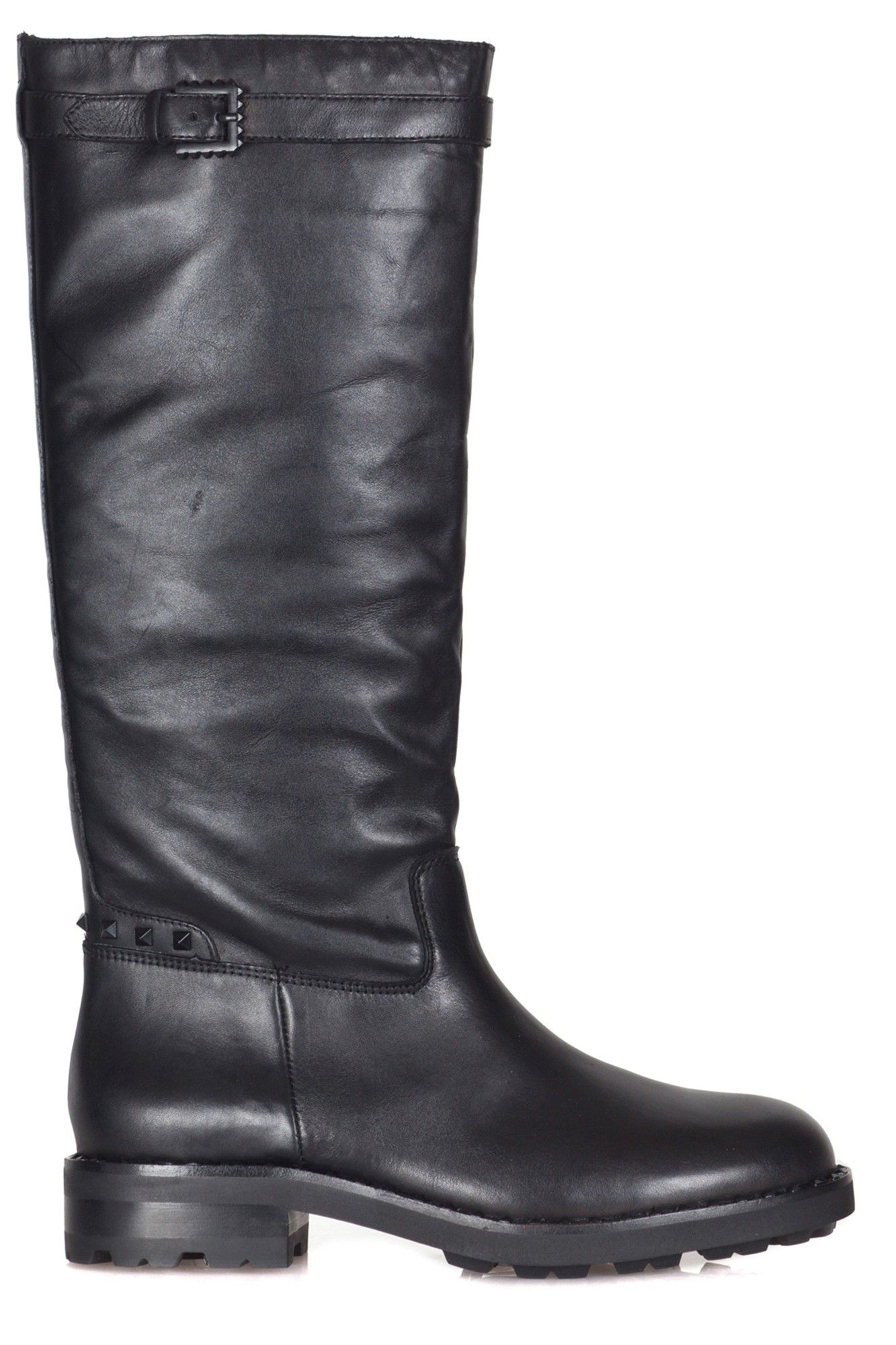 Ash Wampas Leather Boots In Black