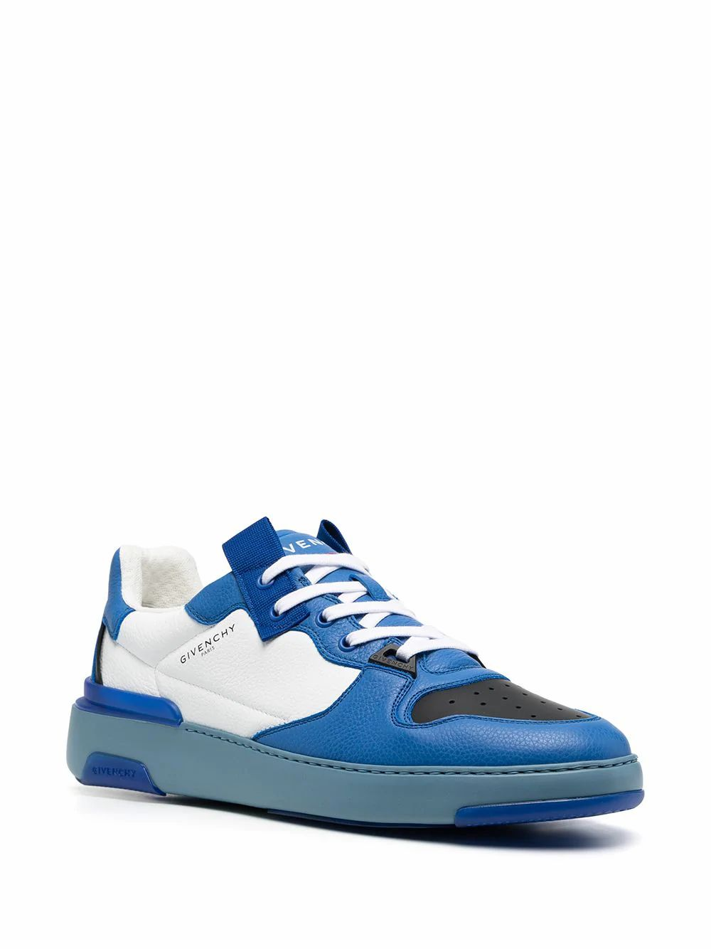 GIVENCHY Leathers GIVENCHY MEN'S BLUE LEATHER SNEAKERS