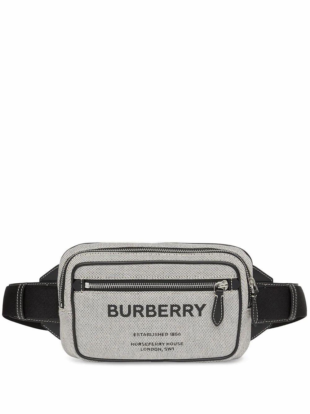 Burberry Leathers BURBERRY MEN'S BLACK COTTON BELT BAG