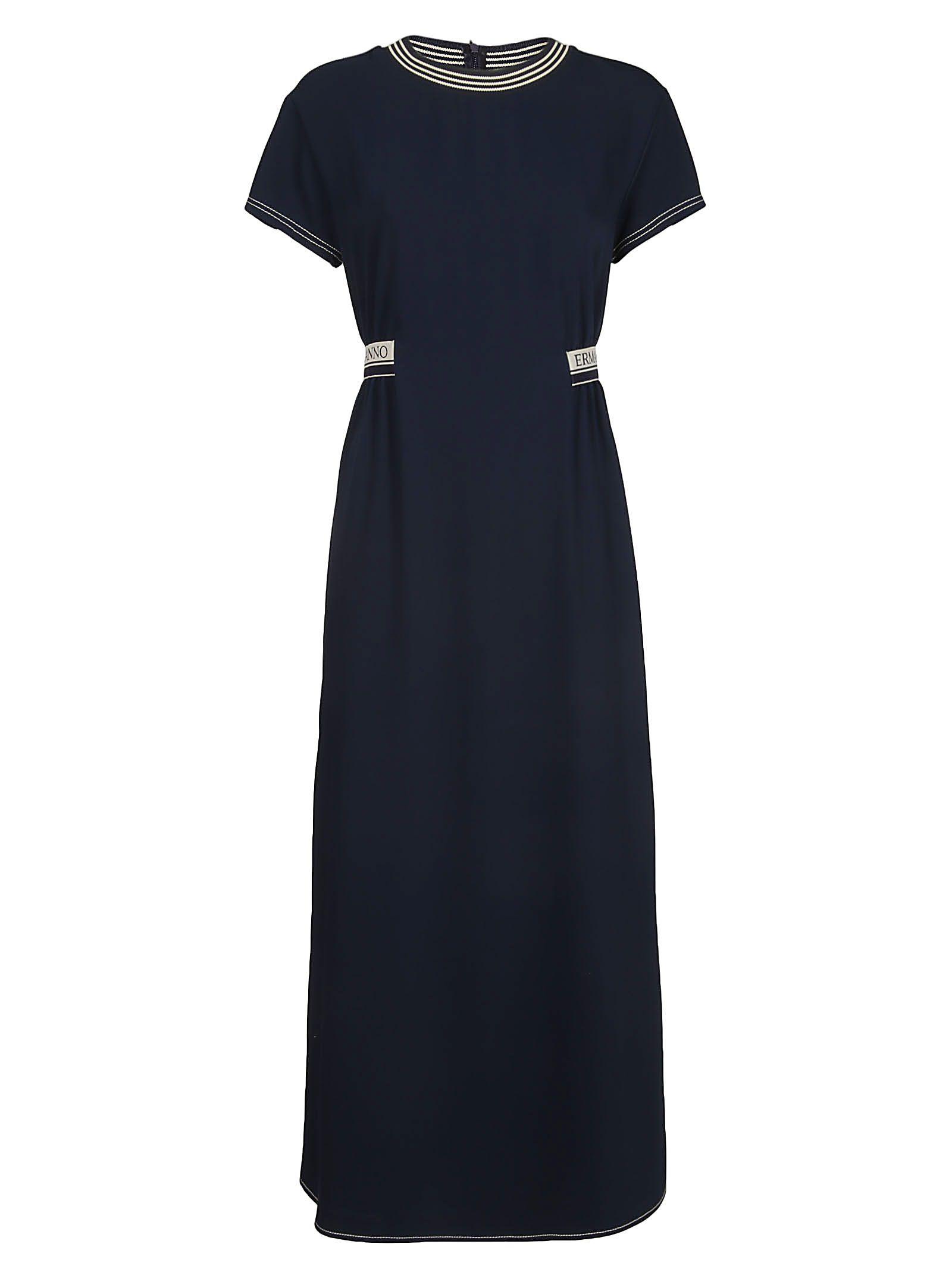 Ermanno Scervino Blue Polyester Dress