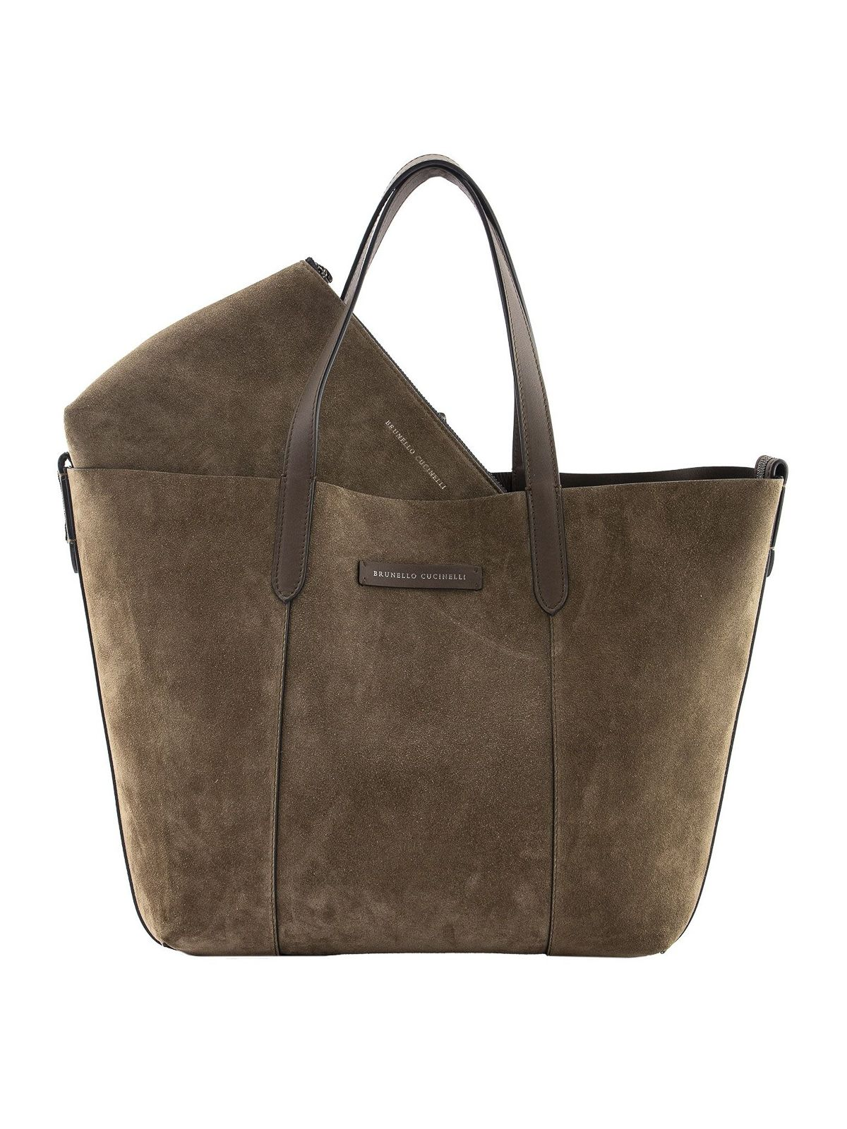 Brunello Cucinelli BRUNELLO CUCINELLI WOMEN'S BROWN SUEDE TOTE