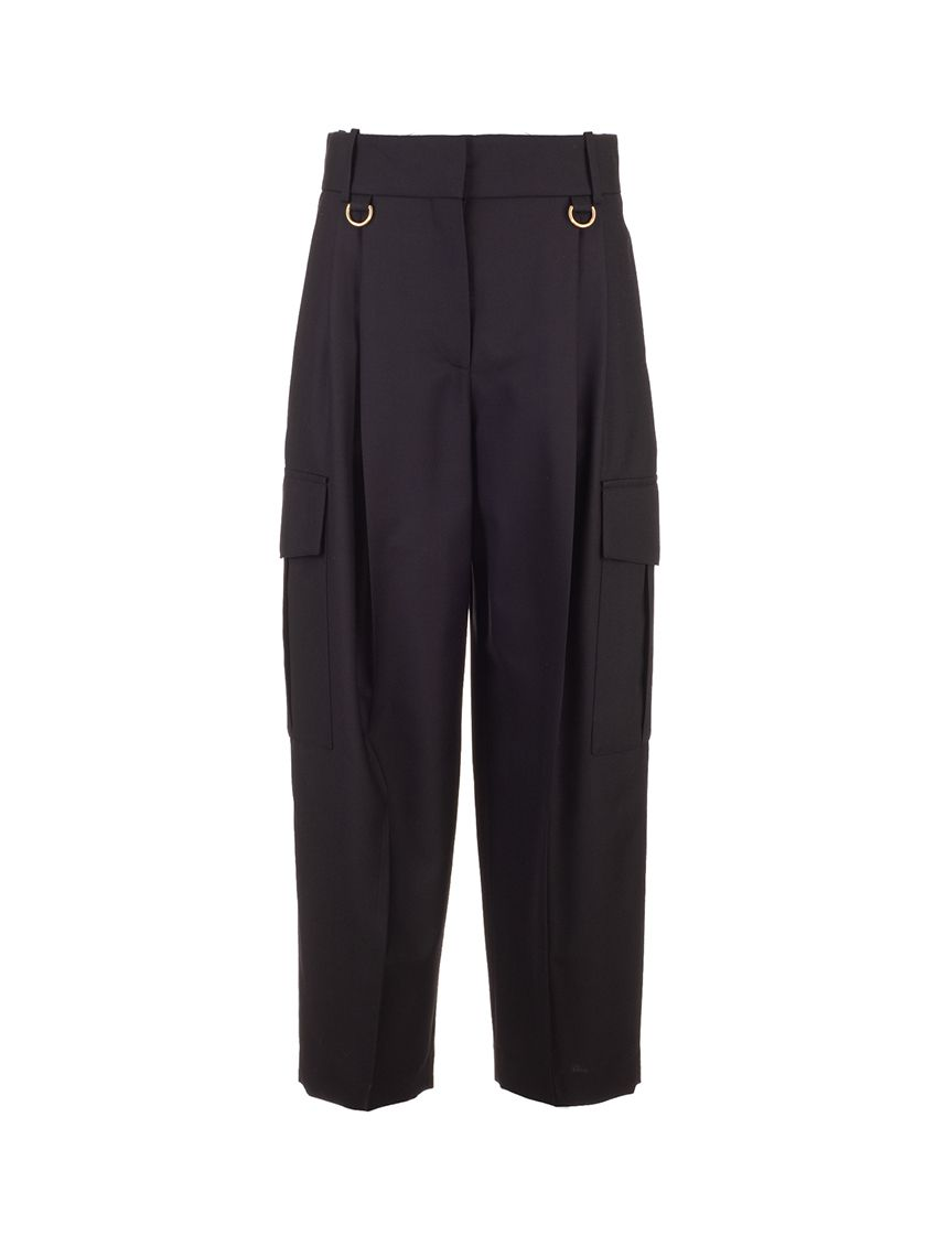 Givenchy GIVENCHY WOMEN'S BLACK OTHER MATERIALS PANTS