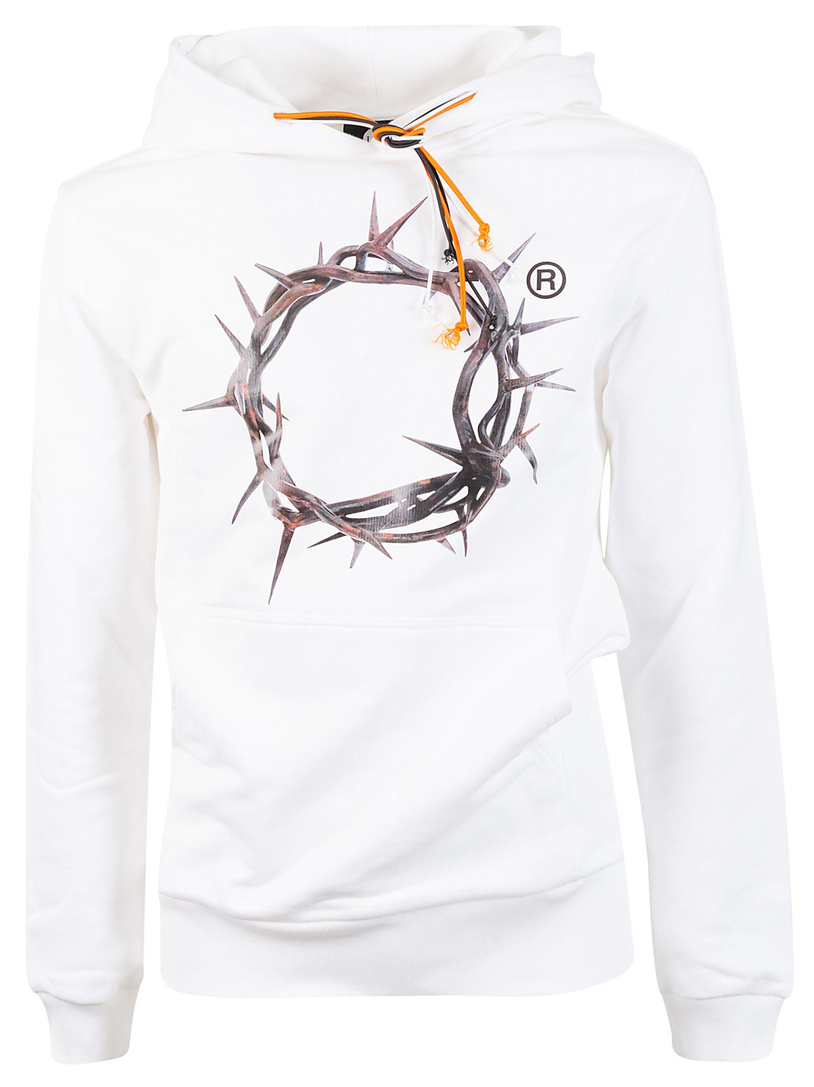 Ihs White Cotton Sweatshirt