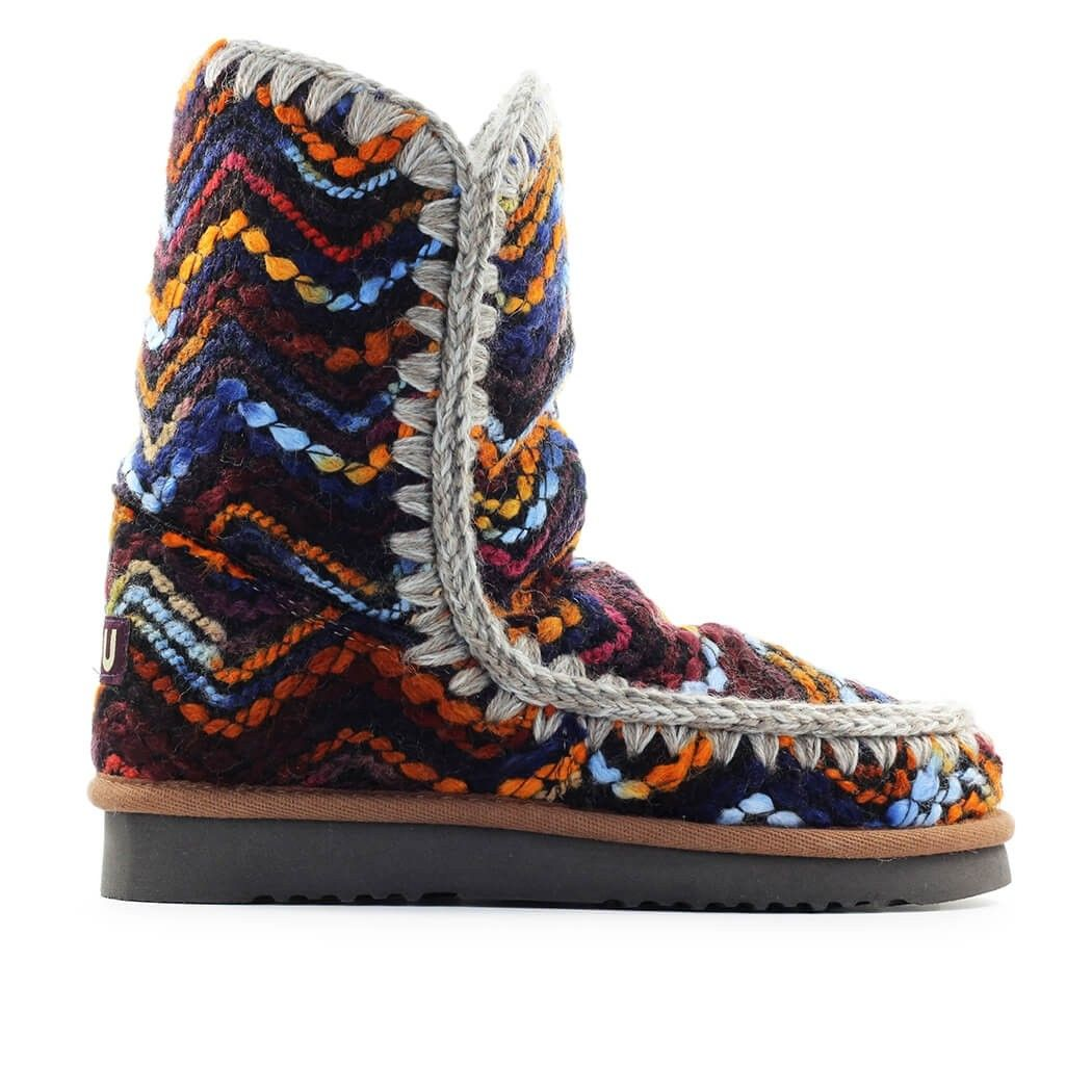 Mou MOU WOMEN'S MULTICOLOR WOOL ANKLE BOOTS