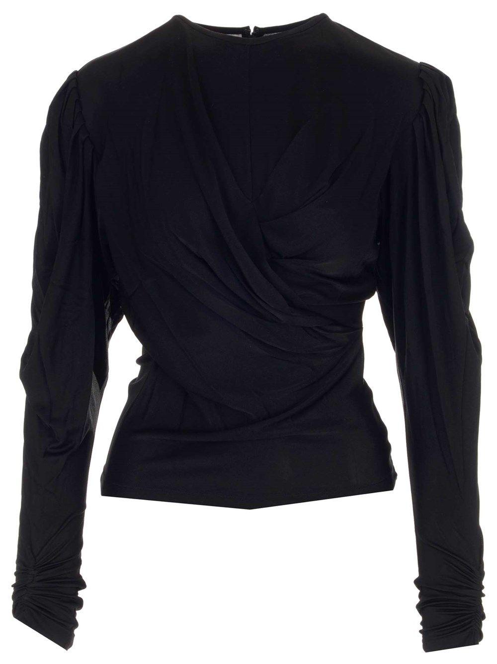 Isabel Marant Silks ISABEL MARANT WOMEN'S BLACK OTHER MATERIALS TOP