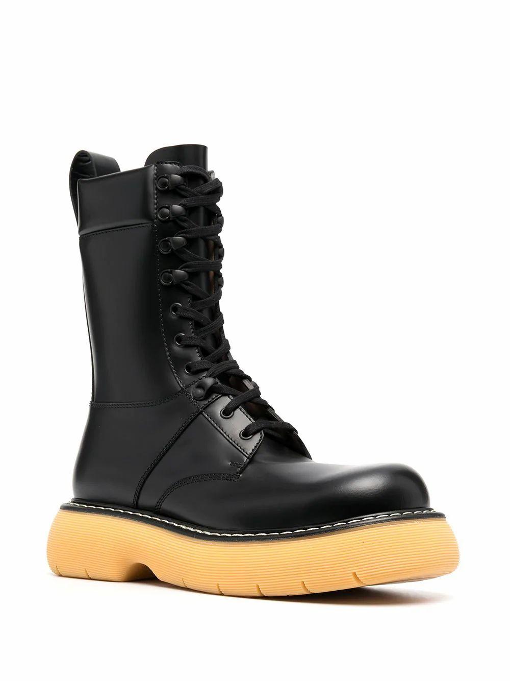 BOTTEGA VENETA Leathers BOTTEGA VENETA MEN'S BLACK LEATHER ANKLE BOOTS