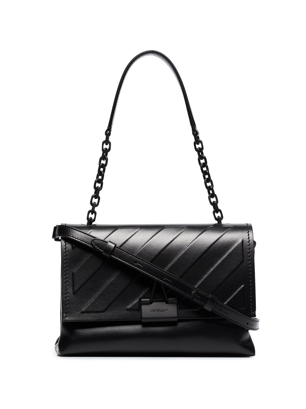 Off-White Leathers OFF-WHITE WOMEN'S BLACK LEATHER SHOULDER BAG