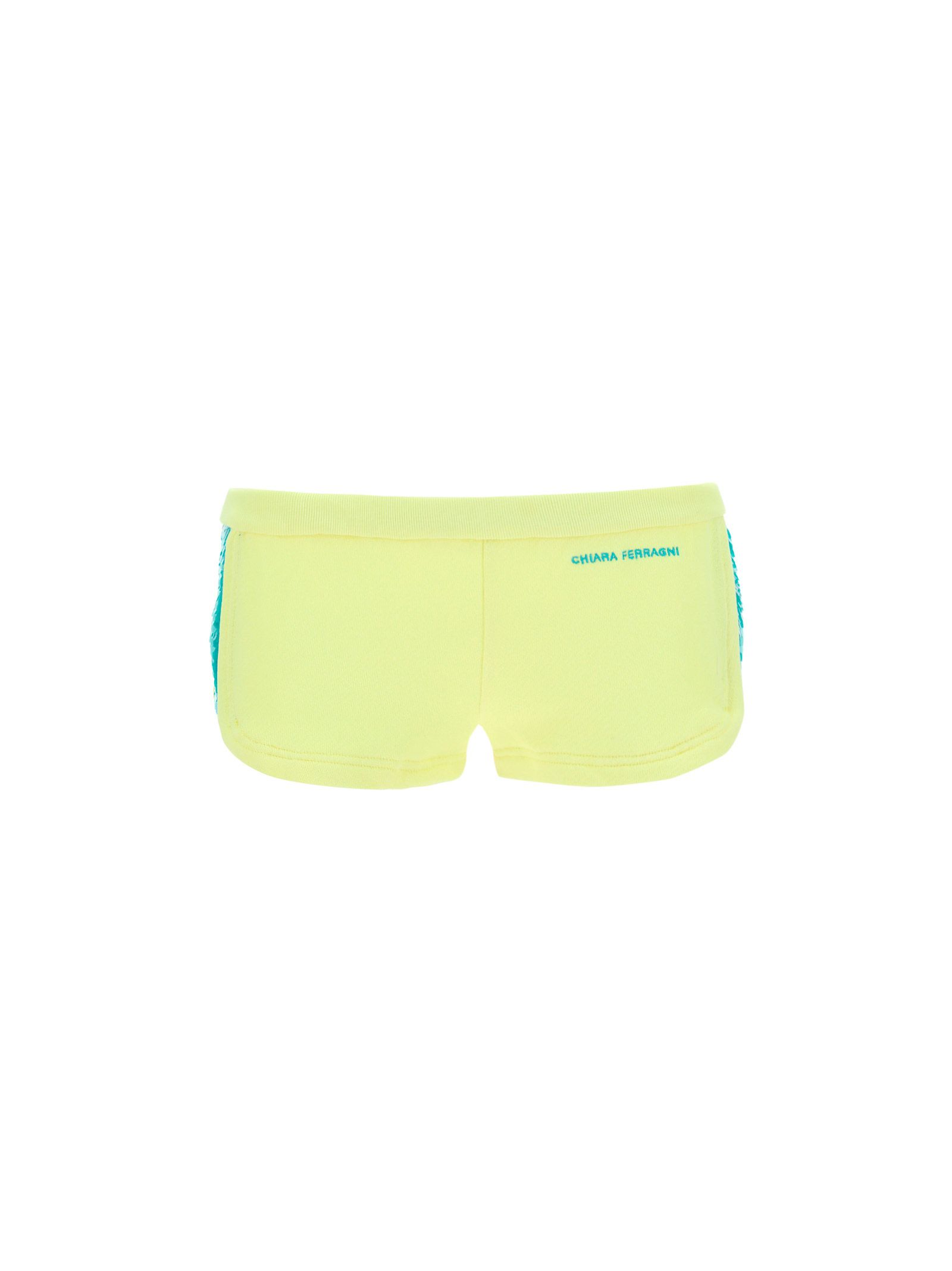Chiara Ferragni CHIARA FERRAGNI WOMEN'S GREEN OTHER MATERIALS SHORTS
