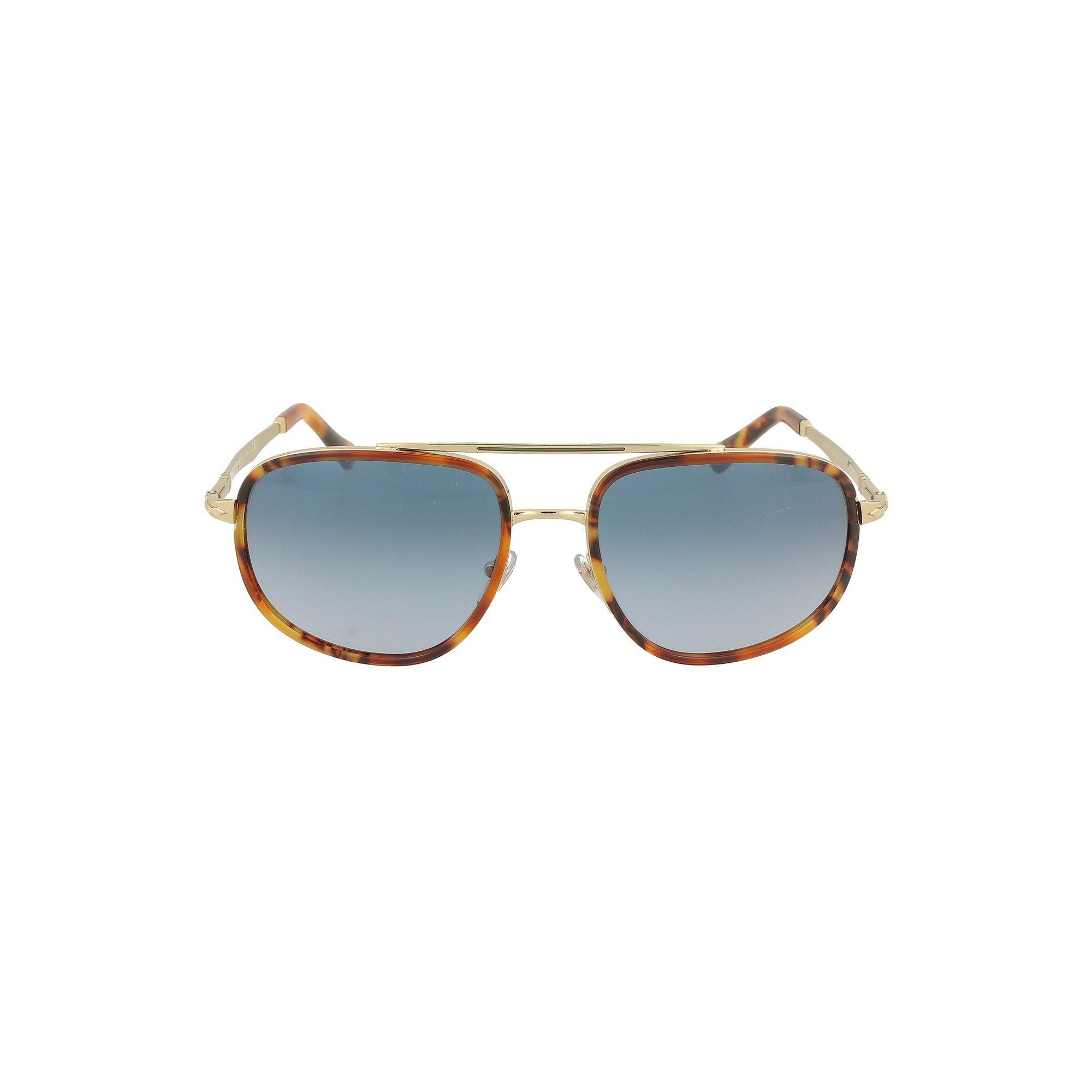 Persol Sunglasses PERSOL MEN'S BROWN METAL SUNGLASSES