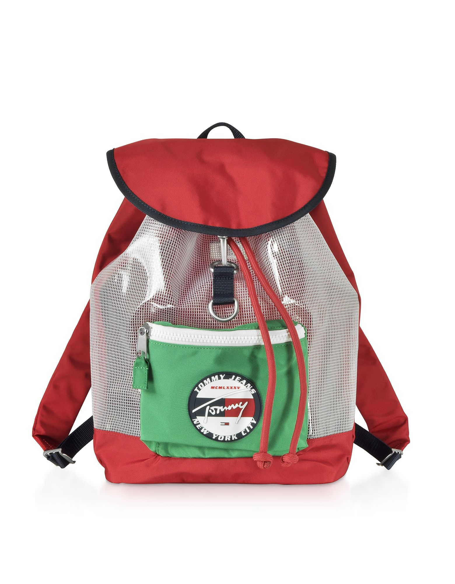 Tommy Hilfiger Red Synthetic Fibers Backpack