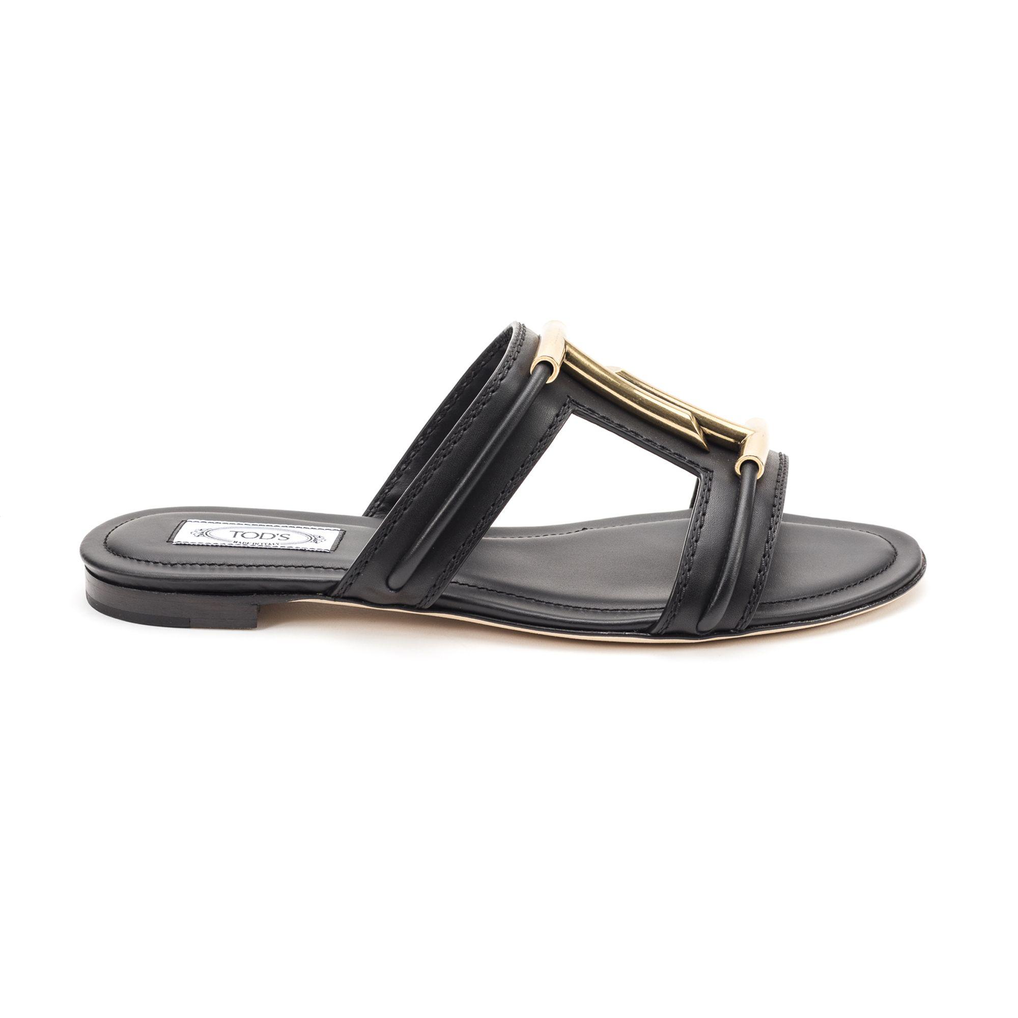 813e55360a Tod's Women's Xxw37B0Bd70D90B999 Black Leather Sandals   ModeSens