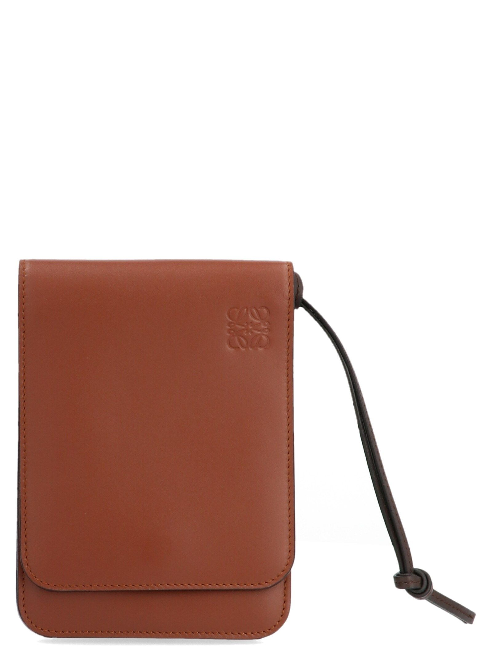 Loewe Brown Leather Messenger Bag