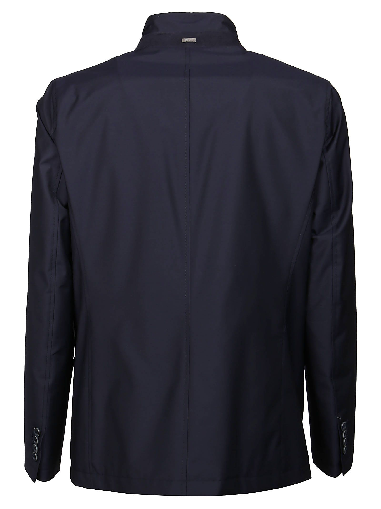 HERNO Jackets HERNO MEN'S BLUE OTHER MATERIALS OUTERWEAR JACKET