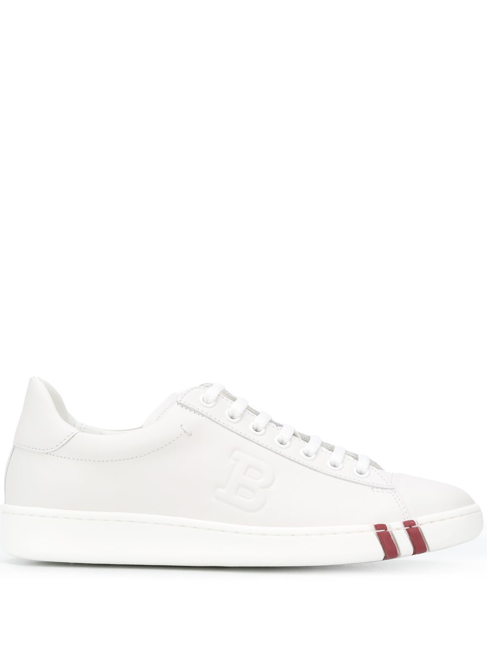 Bally WHITE LEATHER SNEAKERS