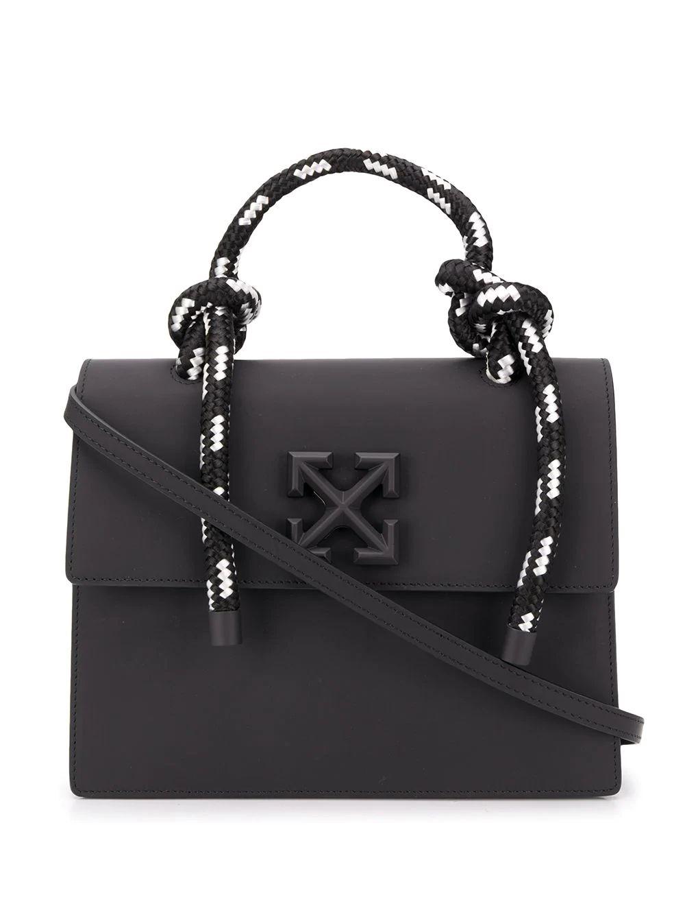 Off-white Women's Black Leather Handbag