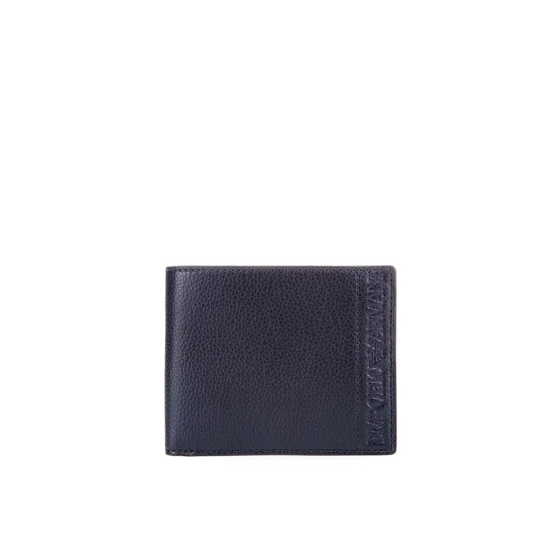Emporio Armani Blue Leather Wallet