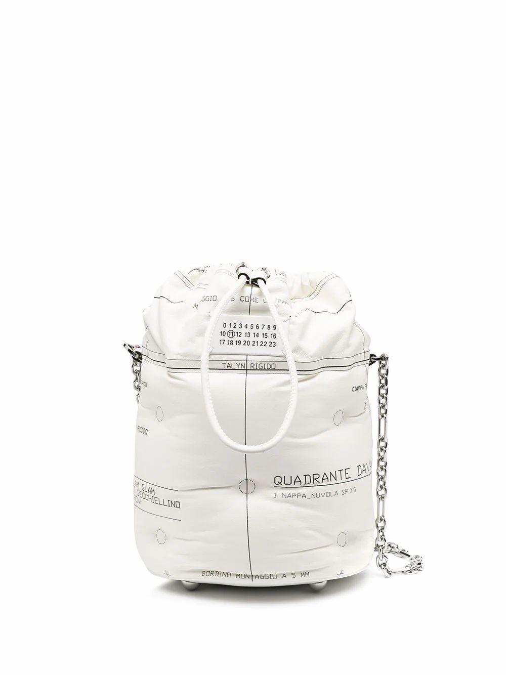 Maison Margiela MAISON MARGIELA WOMEN'S WHITE LEATHER SHOULDER BAG