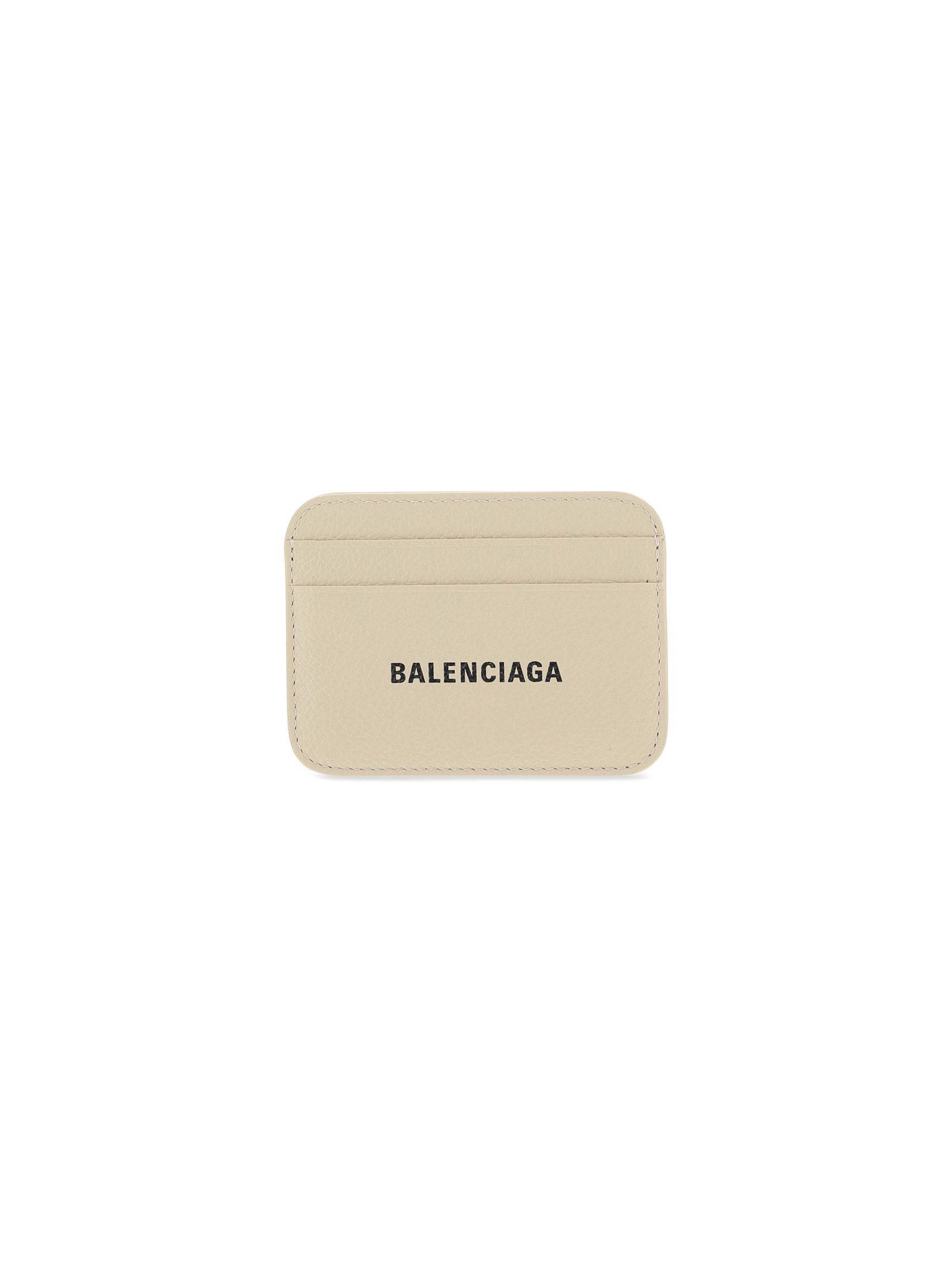 Balenciaga Cardholders BALENCIAGA WOMEN'S BEIGE OTHER MATERIALS CARD HOLDER