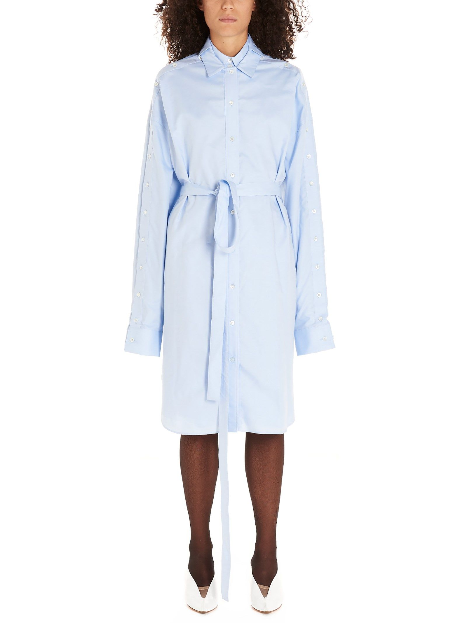 Y/project LIGHT BLUE COTTON DRESS