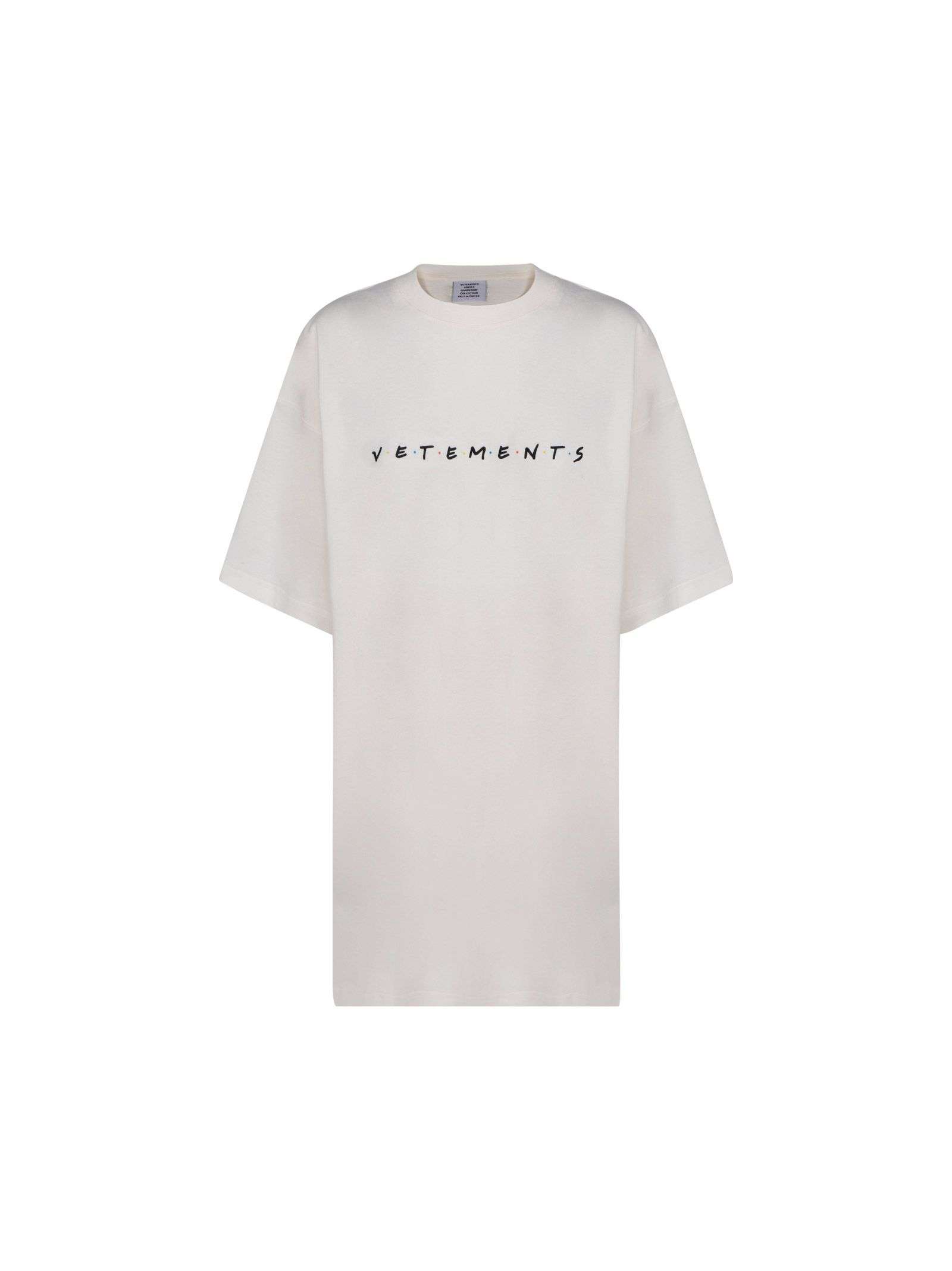 Vetements Cottons VETEMENTS WOMEN'S WHITE OTHER MATERIALS T-SHIRT