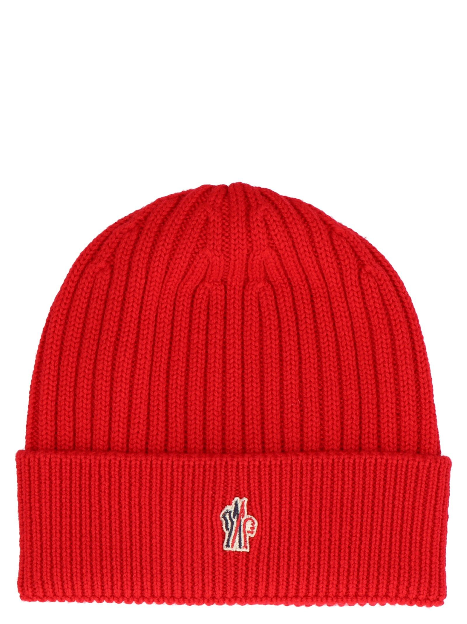 Moncler Red Wool Hat | ModeSens
