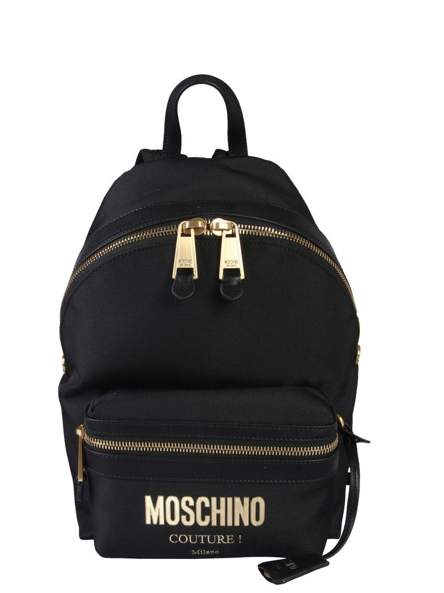 Moschino Black Polyamide Backpack