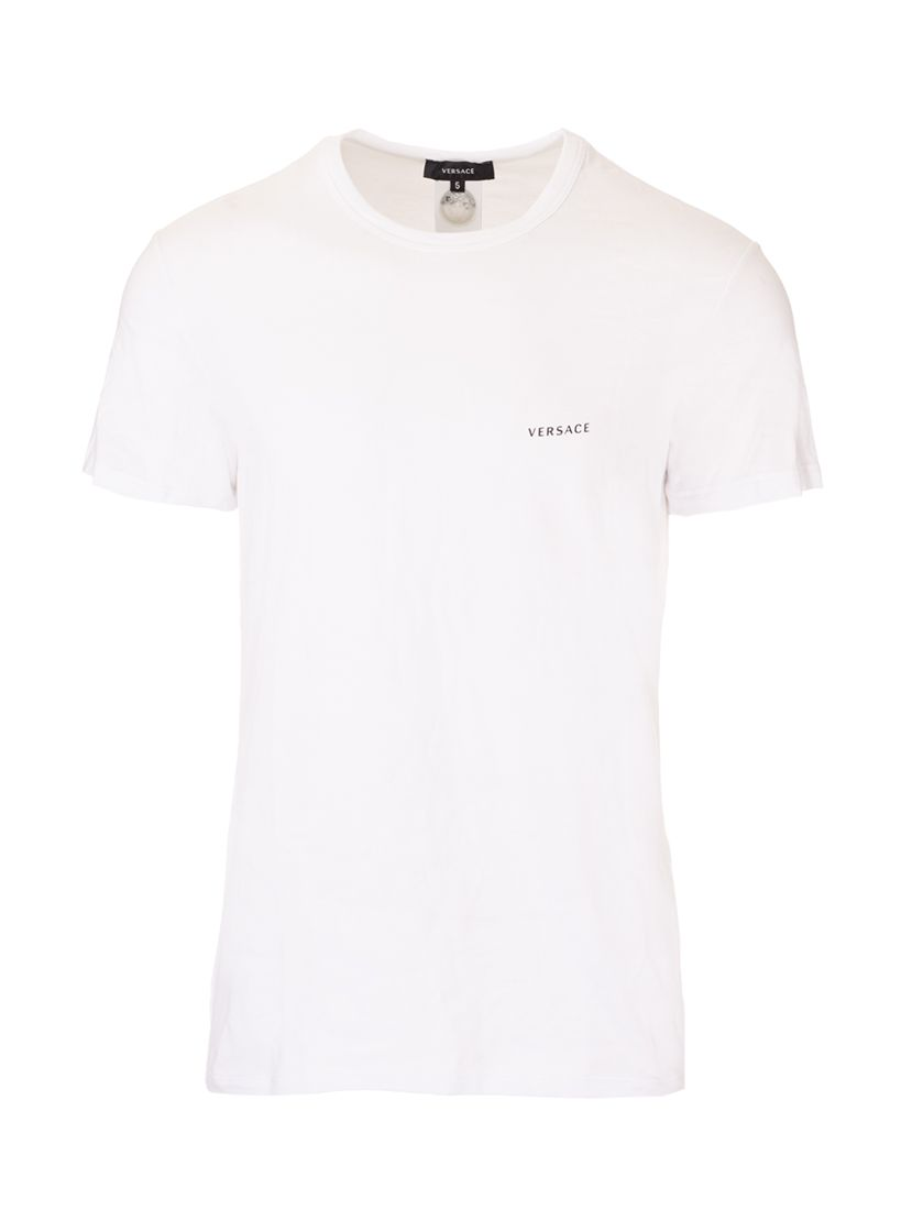 Versace VERSACE MEN'S WHITE OTHER MATERIALS T-SHIRT