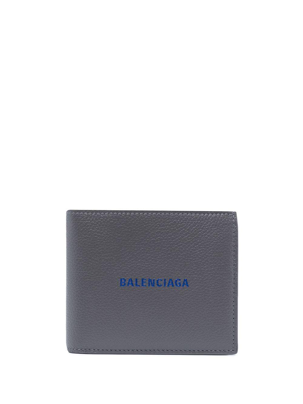 Balenciaga Wallets BALENCIAGA MEN'S GREY LEATHER WALLET