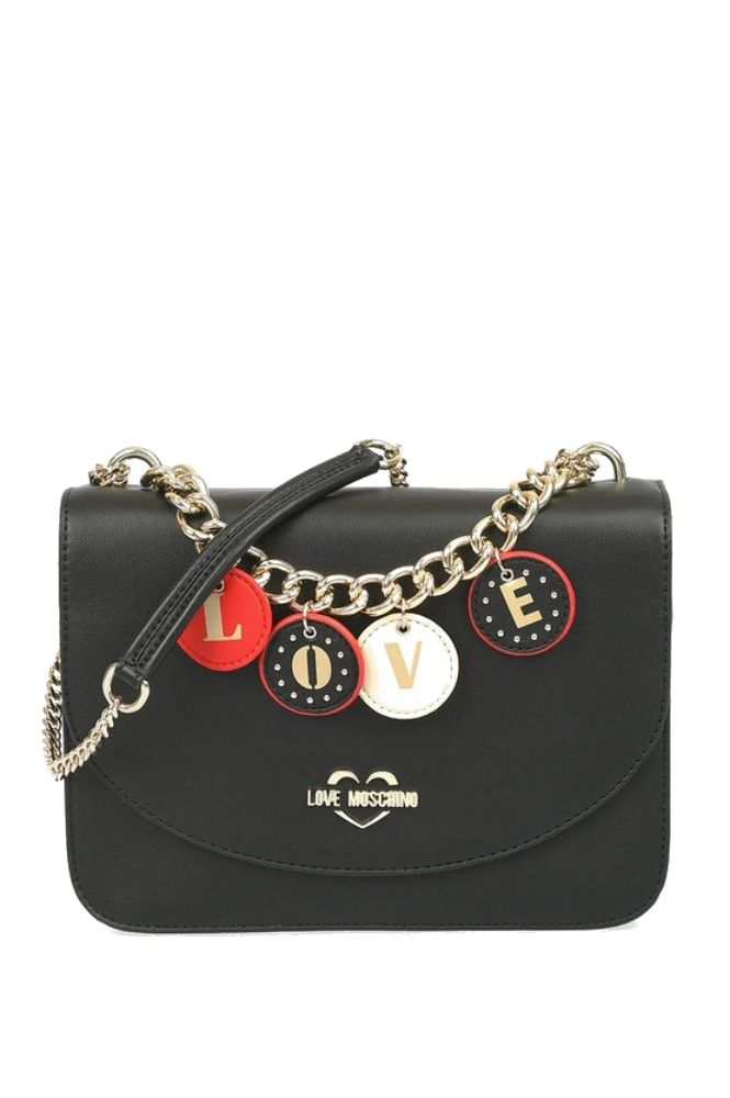 Love Moschino LOVE MOSCHINO WOMEN'S BLACK POLYURETHANE SHOULDER BAG