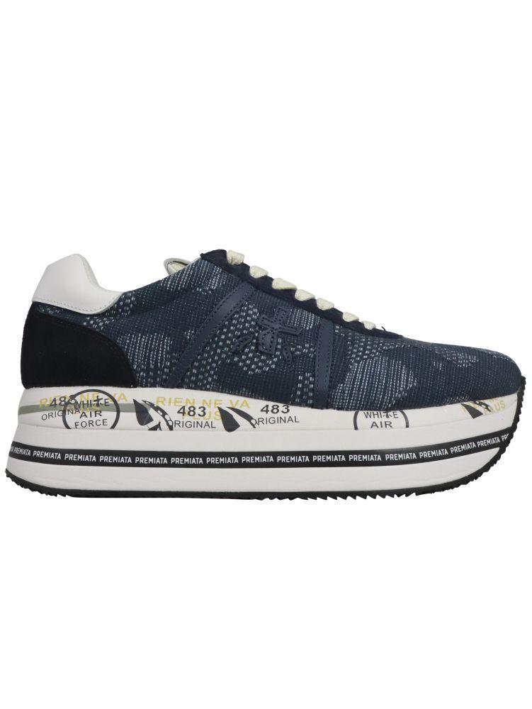 Premiata Sneakers PREMIATA WOMEN'S BLUE OTHER MATERIALS SNEAKERS