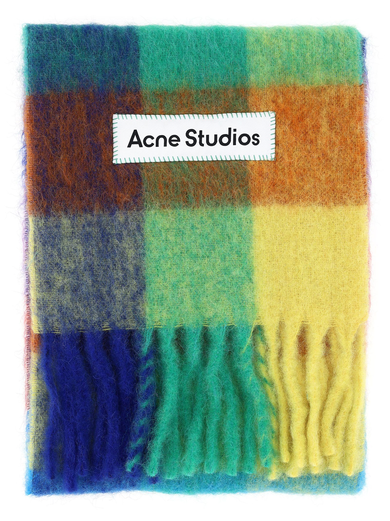 Acne Studios ACNE STUDIOS MEN'S GREEN OTHER MATERIALS SCARF