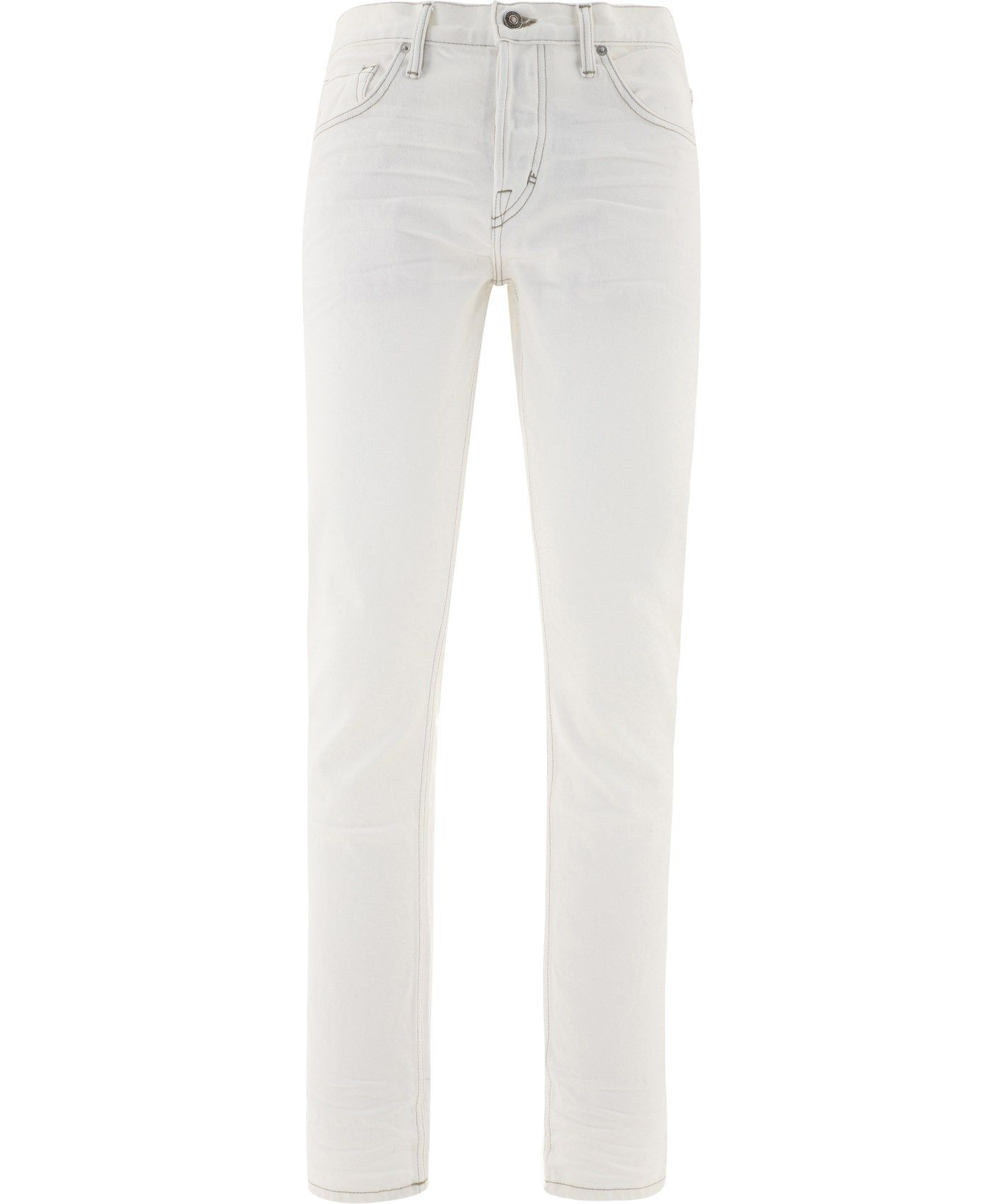 Tom Ford TOM FORD MEN'S WHITE COTTON JEANS