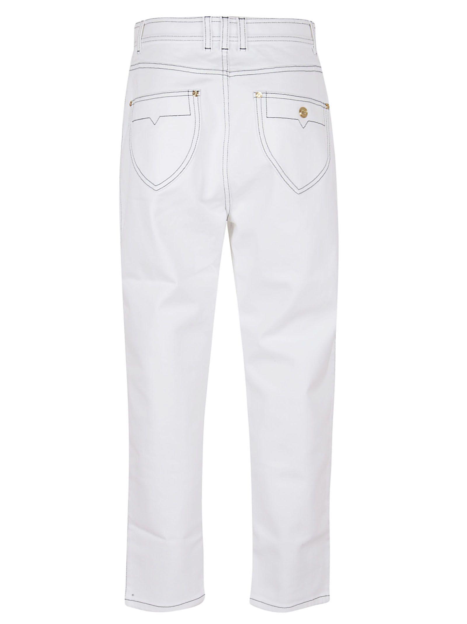 BALMAIN Jeans BALMAIN WOMEN'S WHITE COTTON JEANS