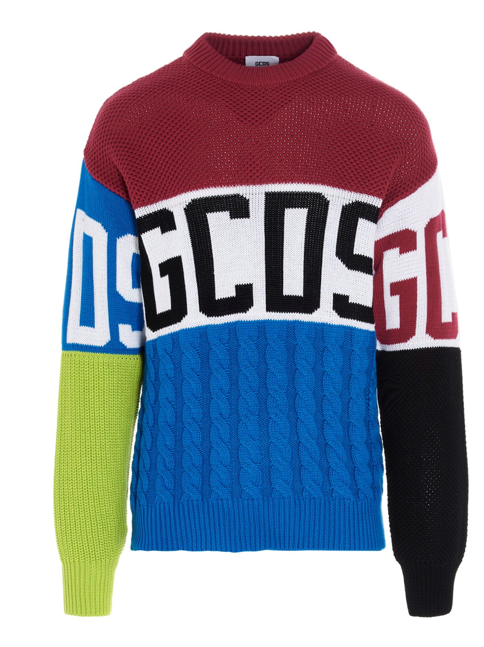 Gcds GCDS MEN'S MULTICOLOR COTTON SWEATER