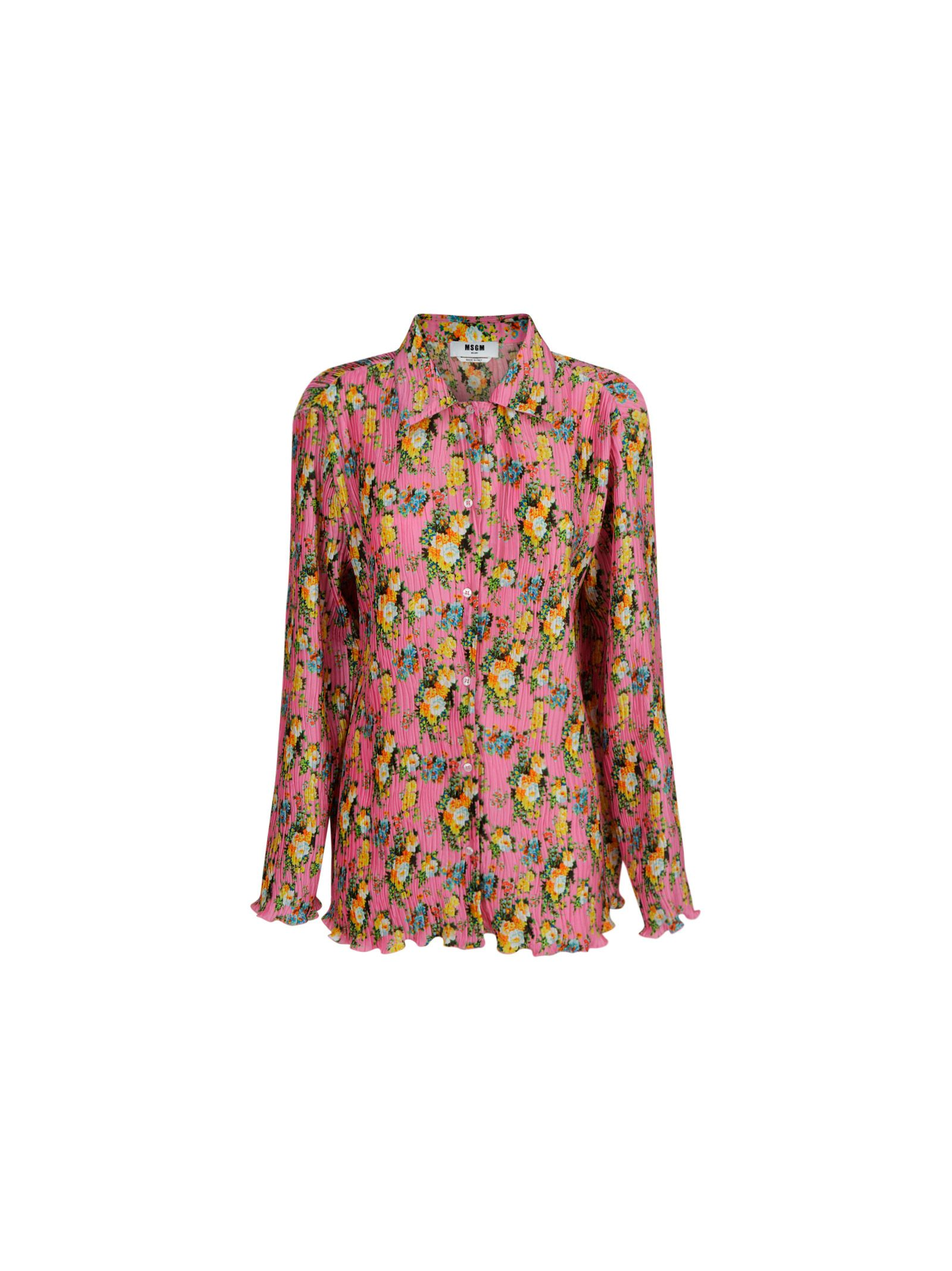 Msgm Downs MSGM WOMEN'S PINK OTHER MATERIALS SHIRT