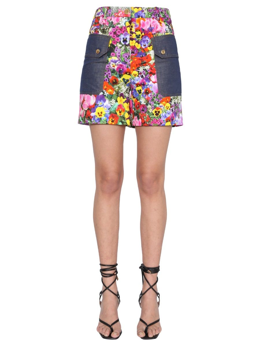 Boutique Moschino BOUTIQUE MOSCHINO WOMEN'S MULTICOLOR OTHER MATERIALS SHORTS